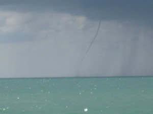 Small Tornado in front of Sanibel Island
